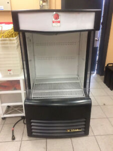 Food court display fridge and steam table, soup warmer for sale