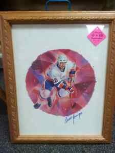 Canada Post NHL Hall of Famer Mike Bossy Framed Print