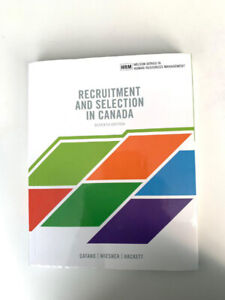 Recruitment and Selection in Canada 7th edition Catano