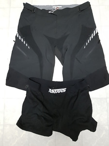 Downhill Biking Knee/Elbow Pads, Alpine Stars bike shorts