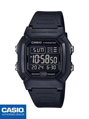CASIO W-800H-1BVES⎪W-800H-1B⎪ORIGINAL⎪CASIO Collection Men⎪NEGRO