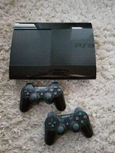 160GB PS3 Slim with 2 controllers and 14 games