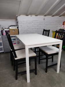 Complete Ikea Dining Room Set - Table, Chairs and Cushions