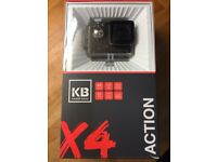 BNIB Kaiser Baas X4 Action waterproof Camera, similar to GoPro