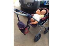 Baby annabell doll and pram