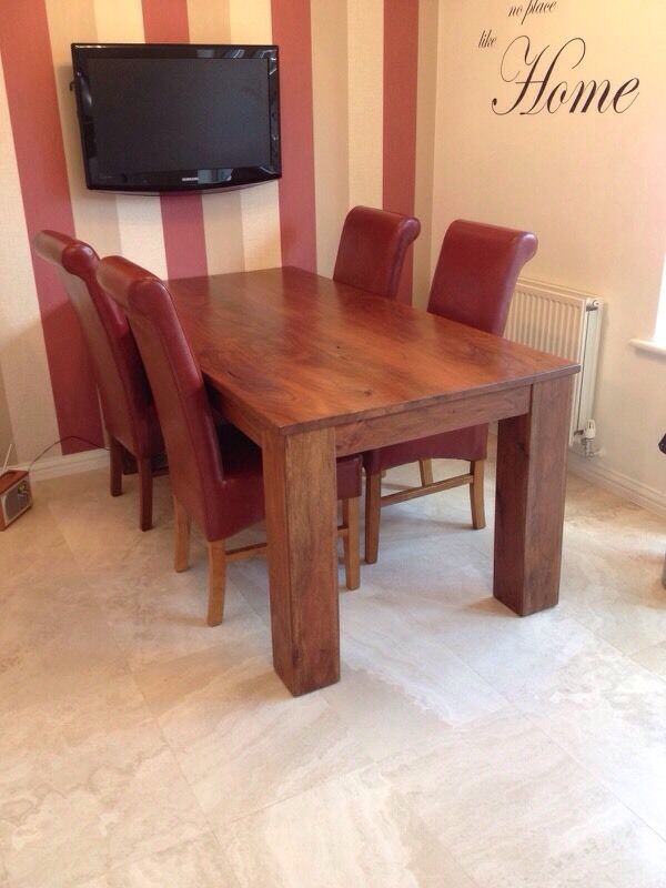 Solid Wood Table Amp Chairs