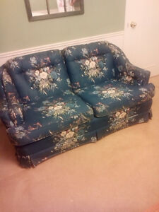 Blue Floral Loveseat and Chair London Ontario image 1