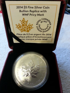 Canada Maple Leaf Bullion Replica with ANA Privy Mark - 2014