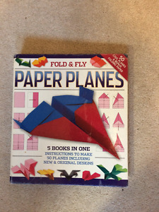 """""""Fold & Fly Paper Planes"""" instruction book"""