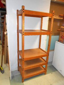 """Wood Shelf Unit 19x29x68"""" Excellent Condition"""