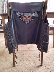 Leather vest with HD patch
