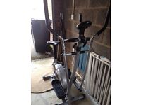 Pro fitness dual cycle and cross trainer