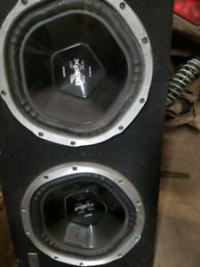 "2 12"" sony subs in sony box 2000 watt system"
