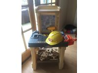 Kids toy workbench and tools £15