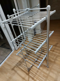 3 TIER ELECTRIC CLOTHES AIRER HEATED 36 RAILS DRYER FOLDING