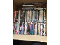 Job lot (210) DVDs mixed rating and genres