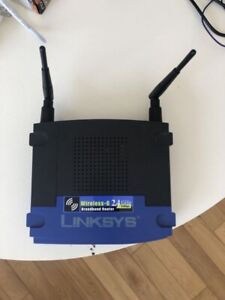 Linksys router wrt54g.