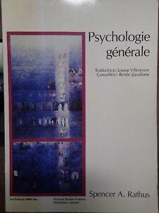 2 livres (niveau collégial 1990) Psychologie générale