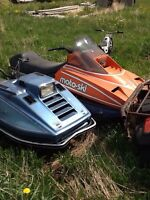 Two sleds
