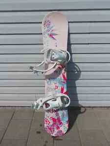 Lamar snowboard and firefly binding for sale