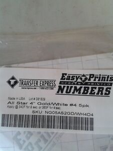 4 inch numbers for heat press application London Ontario image 1