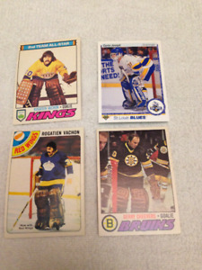 4 NHL Goalie Cards