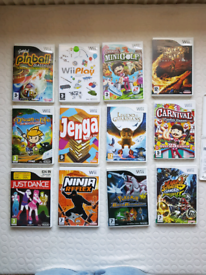 12x Nintendo Wii games from age 3