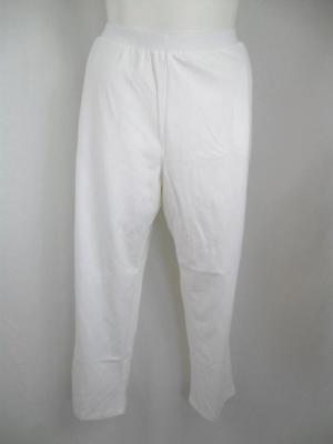 Suprema for Catherines Size 5X Elastic Waistband Cotton Knit Pull-On Pants White