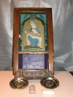 ANTIQUE LAST RIGHTS PIETA SHADOW BOX