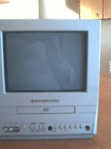 Small Portable Color TV with DVD and Remote - Great for Camping!