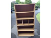 Small bookcase - ash / oak effect