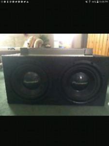 12 inch Pionner Car Subwoofer comes with a bakooka amp