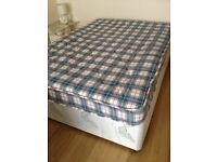 Double divan bed & mattress - VGC - Can Deliver