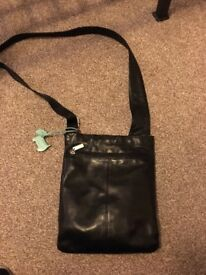 Small black leather Radley shoulder bag.
