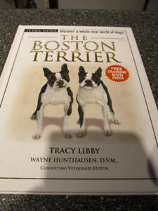 Brand new The Boston Terrier book with DVD