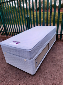 Single bed + mattress & storage (delivery available