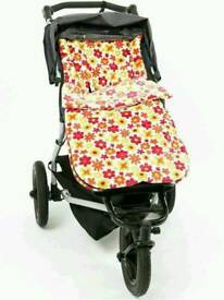 New condition buggy snuggle fur cream ditsy flower