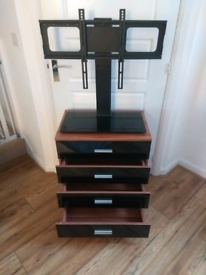 Black 4 drawer cupboard and TV stand