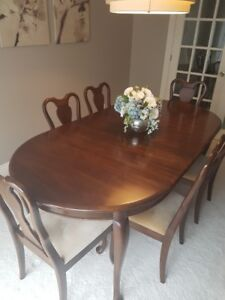 Solid Cherry Wood Dining Room Set - Gibbard