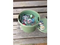 Bait Bucket with removable Tray plus contents