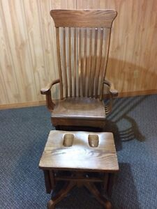 Solid Oak Glider Chair London Ontario image 2
