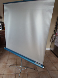 DRIVE IN NIGHT!! CLEAN Pull Down Projection Screen Tripod Handle