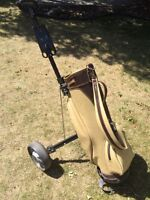Pull Cart and Golf Bag