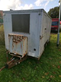 Heavy duty box trailer 2 Axel