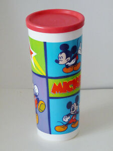 Tupperware Mickey Mouse Tumbler with lid - NEW