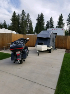 2015 ultra classic  with new tent trailer.