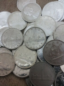 150pcs of Canadian Silver Dollars 1958, 59& 1960s