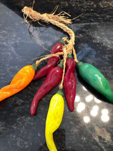 Blown glass peppers