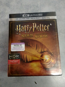Harry potter 8 film collection 4K and bluray