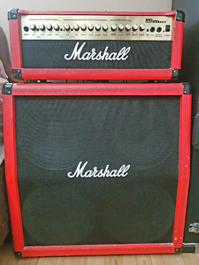 Limited Edition Red Marshall MG series 100 HDFX Combo Head & Cab